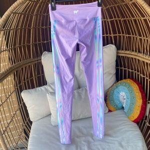 Goldsheep Purple Stripe Leggings Iridescent